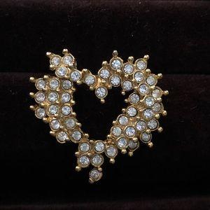Vintage Heart Necklace Pendant